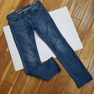 MADEWELL Rail Straight Mid Rise Jeans